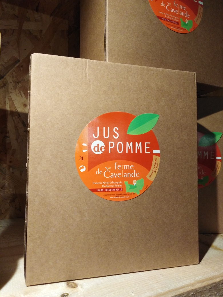Nouveau ! Jus de pomme disponible en bag in box de 3L